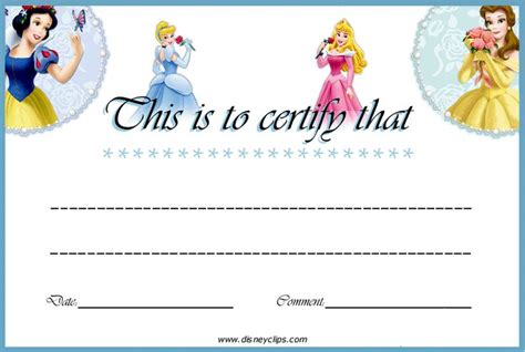 printable disney gift certificates 27 images of disney princess gift certificate template