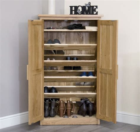 Shoe Storage Cabinet Arden Solid Oak Hallway Furniture Shoe Storage Cabinet Cupboard Rack Shelf Unit Ebay