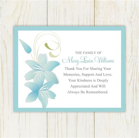 free sympathy thank you cards templates sympathy thank you cards wording