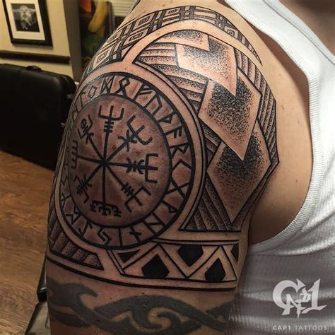 texas tribal tattoos linework by capone tattoonow