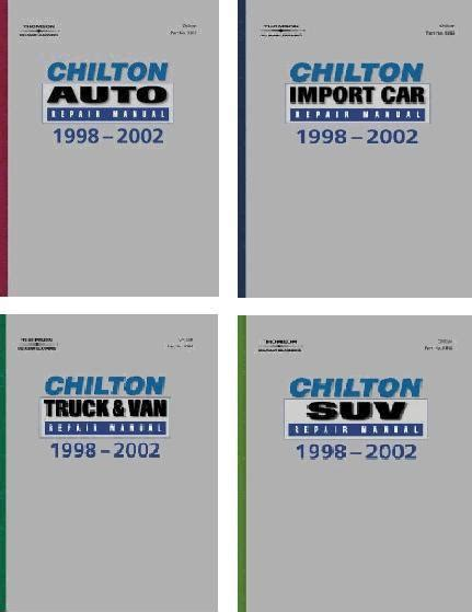 what is the best auto repair manual 2002 nissan sentra electronic valve timing 1998 2002 chilton s repair manual set 4 manuals