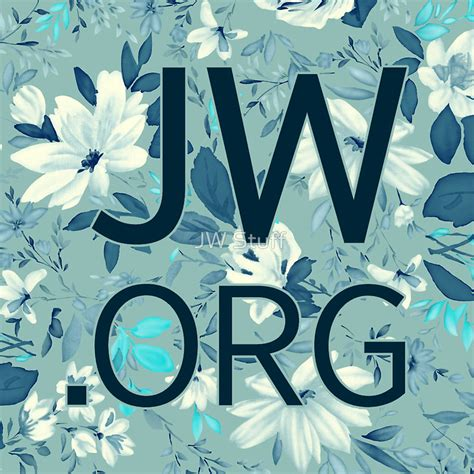 Red Wall Stickers quot jw org white and blue flowers quot stickers by jw stuff