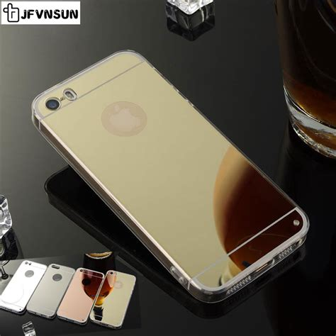 Iphone 5 5s 5g Se Luxury Soft Mirror Cover Ring for iphone 5s for apple iphone 5 5s se new luxury gold silver mirror clear tpu silicon