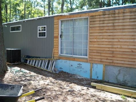 mobile home exterior remodel install siding and