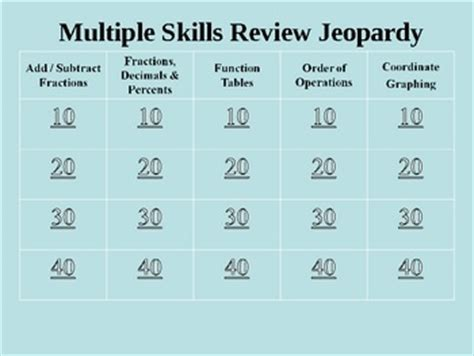 1000 Images About Math Jeopardy Games On Pinterest Math Free Math Jeopardy