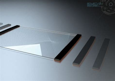 transparent futuristic tablet concept created by thomas