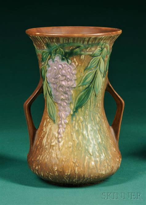 realized price for roseville wisteria vase