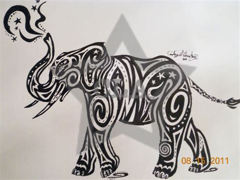 elephant tribal tattoos pin celtic elephant on