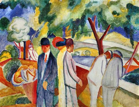 Blue Dining Room large bright walk by august macke august macke canvas