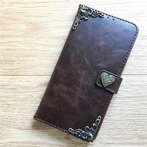 Handmade Leather Cell Phone Cases - phone leather wallet flip handmade cover