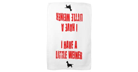 Kitchen Jokes One Liners I A Weiner Joke Kitchen Towel Zazzle