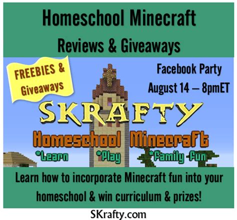 Giveaway Disclaimer Language - skrafty homeschool minecraft review giveaway startsateight