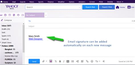 email yahoo upgrade how to add or update email signature yahoo websites by