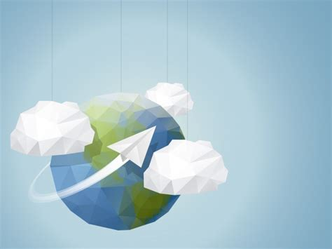 geometric earth globe background vector