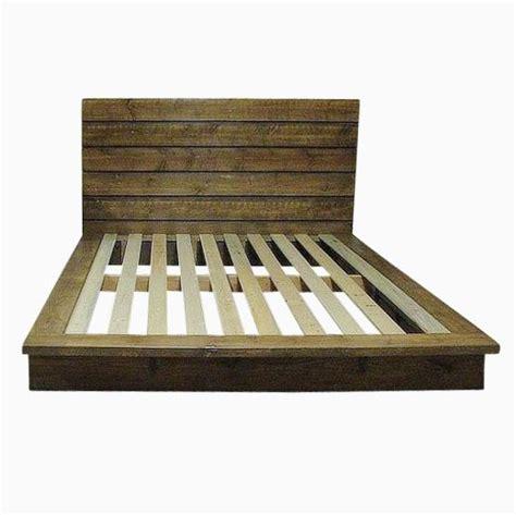 rustic platform bed custom made queen rustic platform bed by artisan wood custommade com