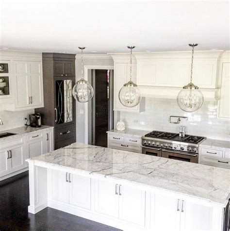 White Kitchen Pendant Lights Best 25 White Marble Kitchen Ideas On Marble Countertops Gray And White Kitchen