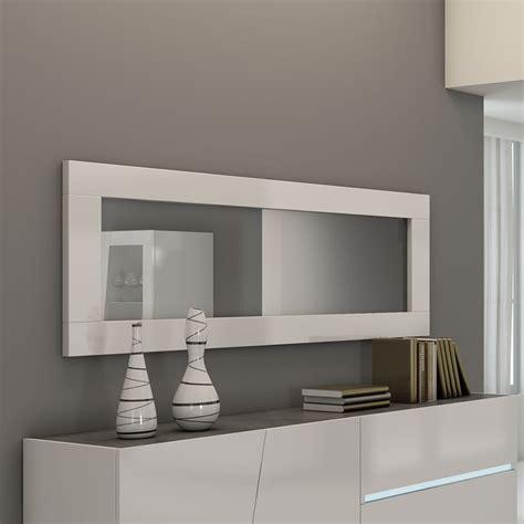 Superbe Salle A Manger Blanc Laque Pas Cher #4: miroir-design-blanc-lizea-zd1.jpg