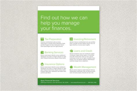Financial Planning Services Flyer Template Inkd Financial Services Brochure Template Free