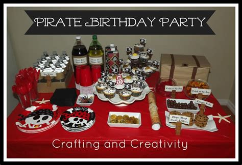 pirate themed birthday decorations crafting and creativity my s 5th birthday
