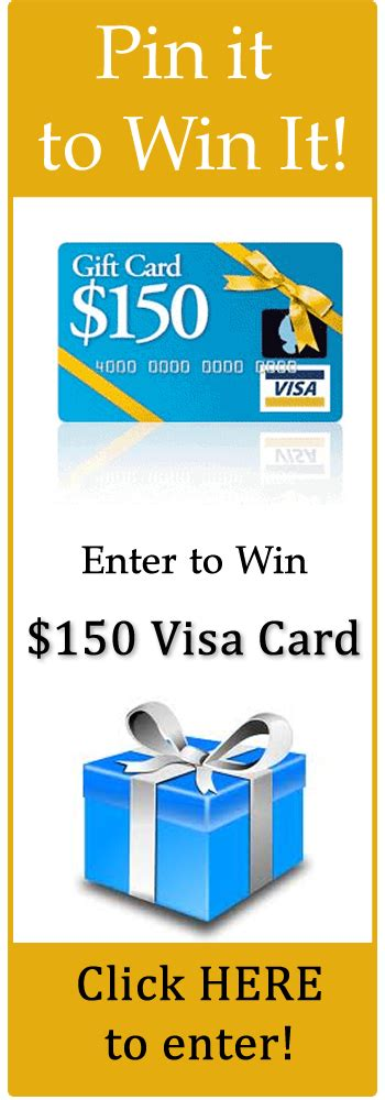 15 Dollar Visa Gift Card - pin it to win it 150 visa gift card follow me on pinterest