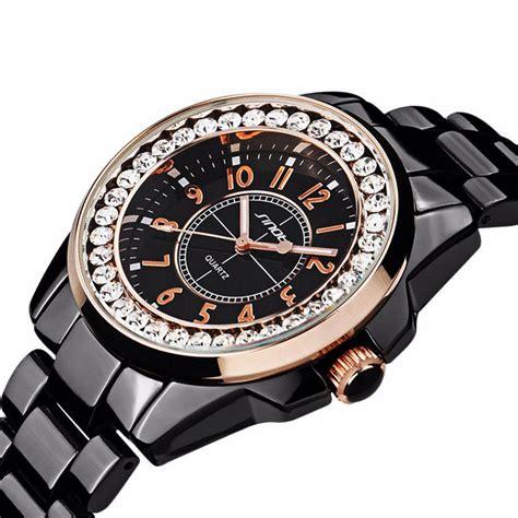 Jam Sinobi sinobi jam tangan ceramic analog wanita 9390 black