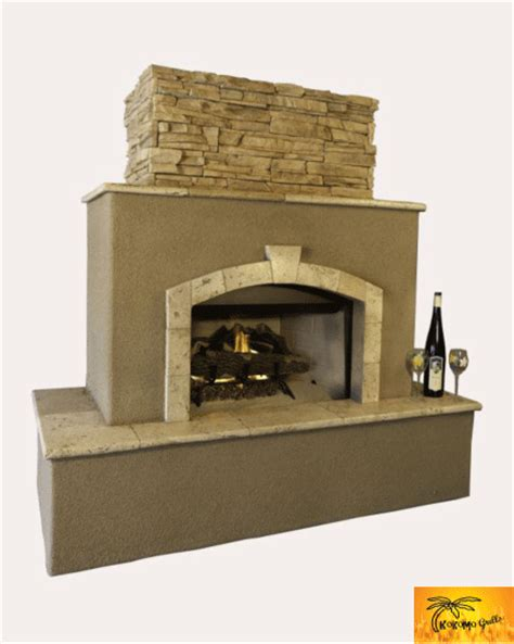 outdoor stucco place tuscan outdoor fireplace