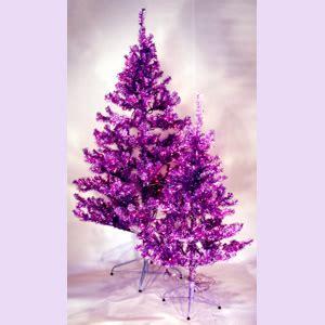 purple tinsel tree 4ft and 6ft purple tinsel trees