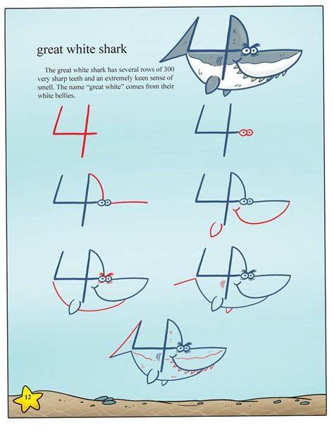 Drawing Numbers by Draw Sea Animals With Ease Using Numbers 2
