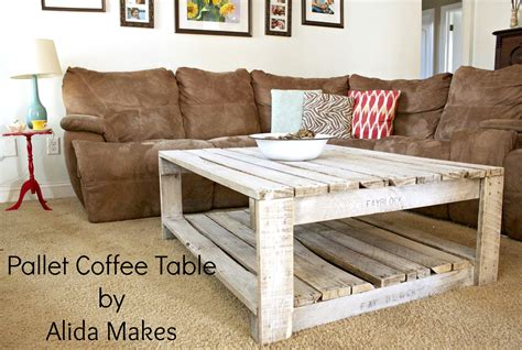 How To Make A Coffee Table From Pallets How To Whitewash A Pallet Coffee Table Diy Alida Makes