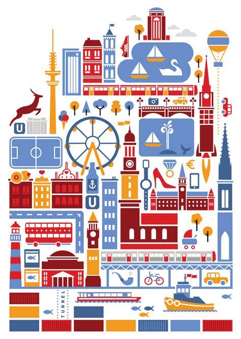 hamburg karte hamburg karte aviv studios illustration erkl 228 rvideos