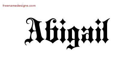 english  tattoo designs abigail