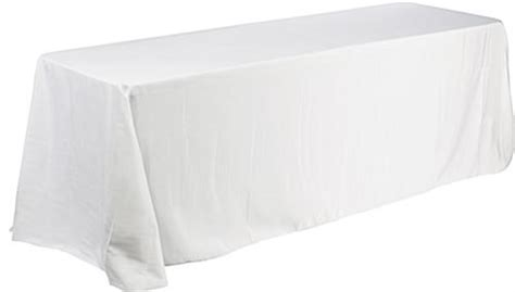 6ft table cloth deluxe white table throw for 6ft table