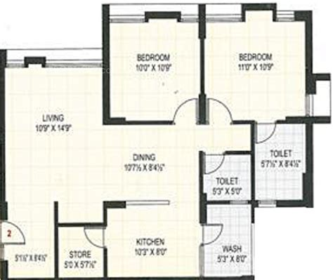 1100 sq ft floor plans 1100 sq ft 2 bhk 2t apartment for sale in aagam heights