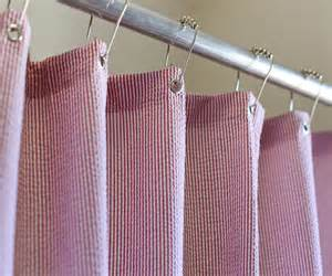 seersucker shower curtain with buttonholes second chocolate