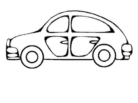 מכונית ישנה Cars The Coloring Pages