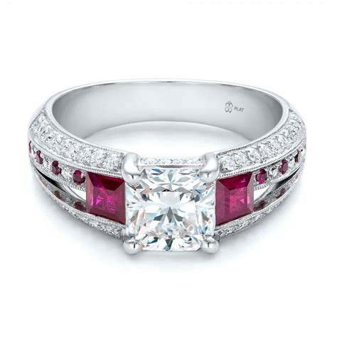 custom ruby and engagement ring 101458 bellevue