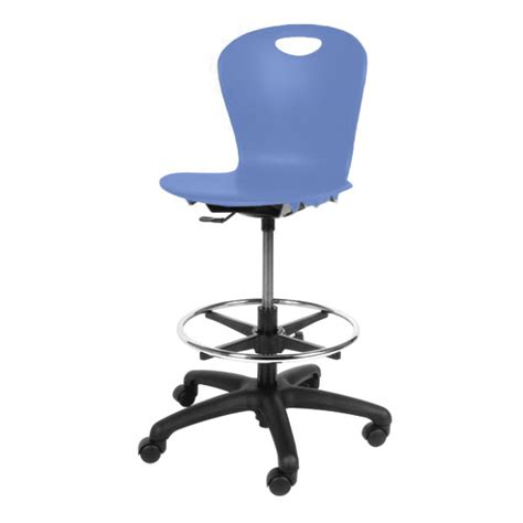 Blueberries Stool by Virco Zuma Adjustable Lab Stool Zlab Drafting Office