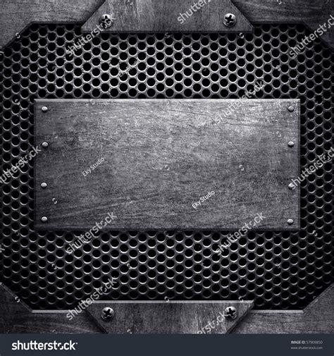 Template Of Metal Plate Stock Photo 57909850 Shutterstock Metal Template