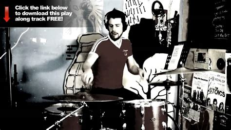 tutorial drum funk funk drum play along 2 drum lessons youtube