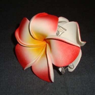Jepit Rambut 2 Bunga Merah Pink jepit salon merah jepun 2 oleh2bali kerajinan bali