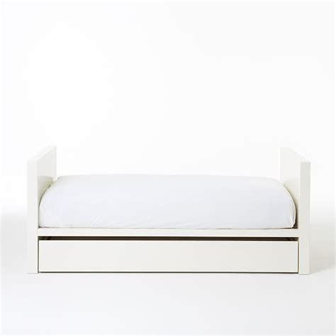 Parsons Bed Frame West Elm Parsons Daybed In White Lacquer With Trundle Storage Mn Living West Elm