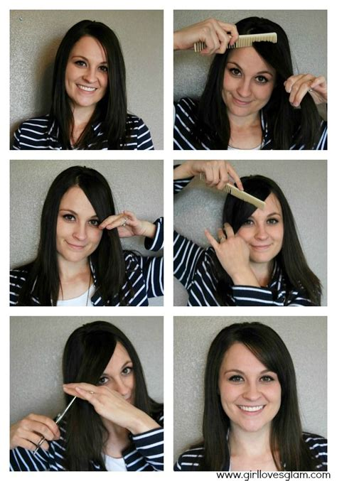 tutorial on cutting bangs how to cut your own side quot swoop quot bangs bangs tutorial