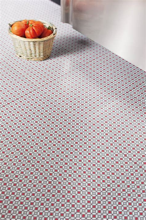 red stars vinyl floor tiles by zazous