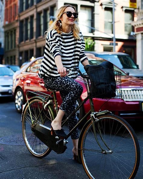 Cycling Chic Style by How To Look Chic When Bike Glam Radar