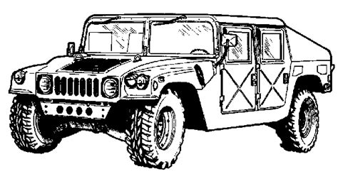 army hummer coloring pages kids tanks and trucks