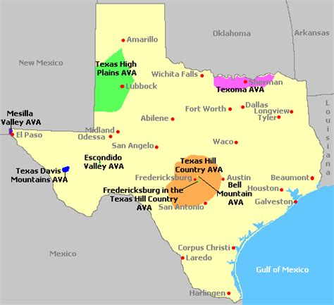 map of texas hill country area map of texas