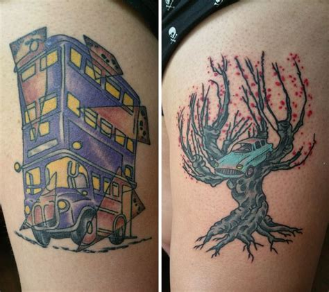 whomping willow tattoo 1000 ideas about thigh on