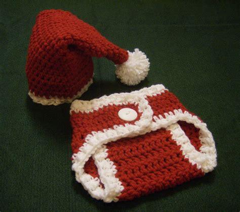 free crochet santa hat for children newborn baby santa hat and cover set crochet photo prop ebay