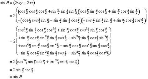 maths euler to quaternion exles maths conversion quaternion to euler martin baker