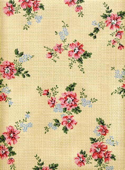 6 feet of vintage cottage wallpaper shabby chic